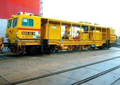 1500 Meter Gleisstabilisation vermag der DGS 62 N dank seiner dynamischen Verdichtungstechnik pro Stunde zu leisten.