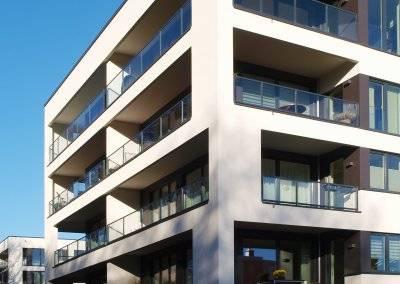 15 Wohneinheiten finden in jedem der zwei Gebäude Platz.