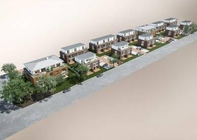 Das Projekt umfasst zwölf Neubauten mit insgesamt 42 Wohneinheiten.