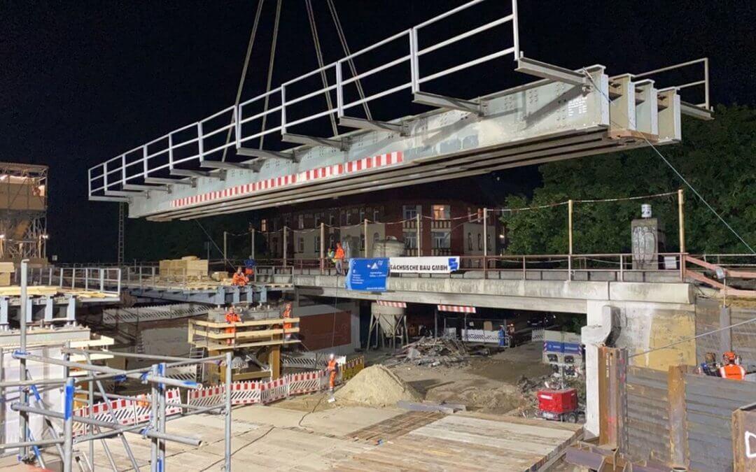 Eisenbahnüberführung Billhorner Deich in Hamburg