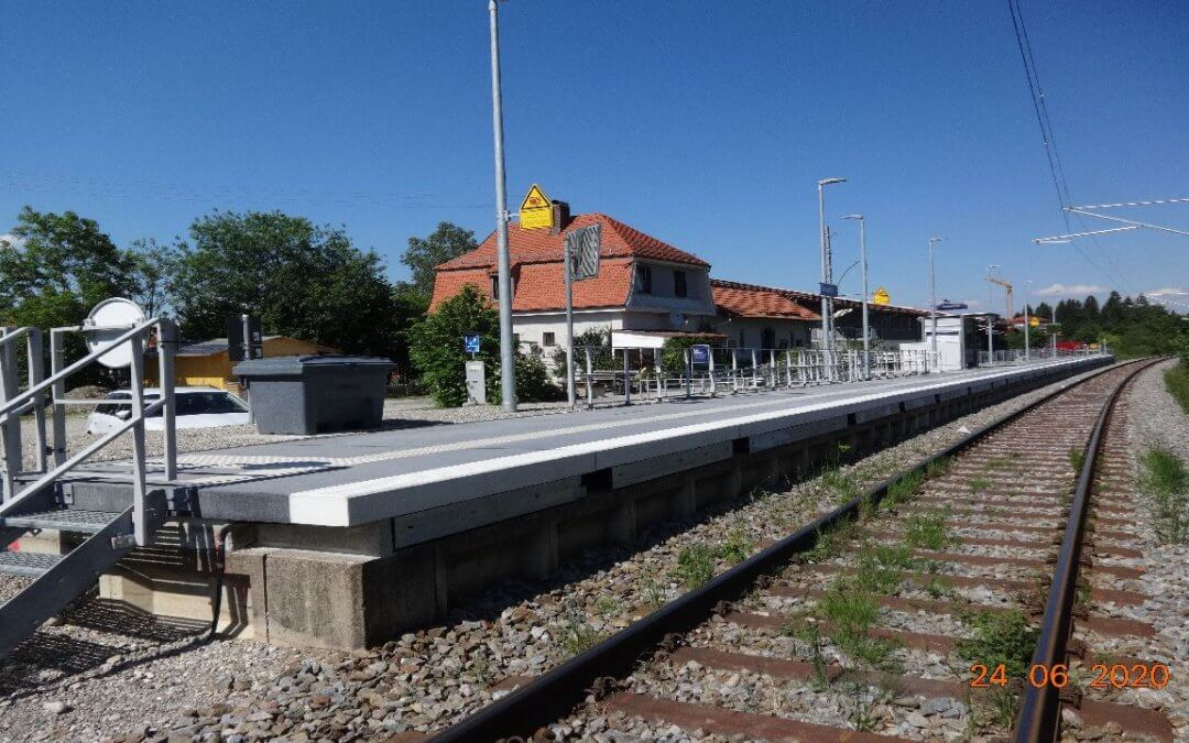 Bahnsteig Haltepunkt Saulgrub / Bayern
