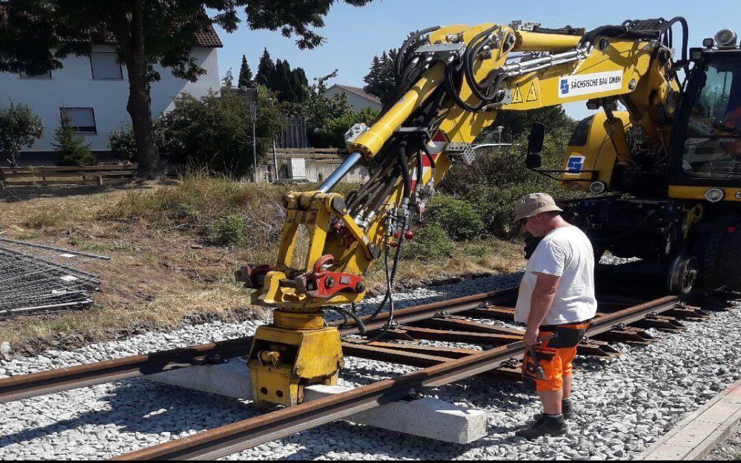 Gleiserneuerung, Strecke Coburg – Bad Rodach